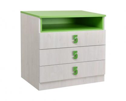 Numero-komoda-3F-Zelen